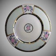 Hutschenreuther Bavaria Enameled Floral Design Plate/Charger (c.1930-1940's)
