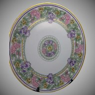 Thomas Bavaria Floral Motif Plate/Charger (Signed/c.1909-1930) - Keramic Studio Design