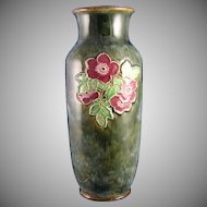 "Royal Doulton Arts & Crafts Floral Motif Vase (Signed ""Minnie Webb""/c.1923-1927)"