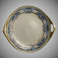 Porcelain Blank Handled Serving Plate/Dish (Signed/c.1920-1940)