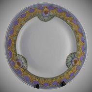 Vignaud Limoges Floral Motif Plate (Signed/c.1911-1938)