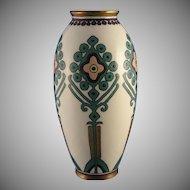 "Lenox Belleek ""Cross Stitch Embroidery"" Pattern Vase (c.1920-1930) - Keramic Studio Design"