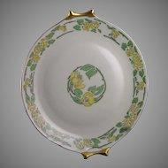 Hutschenreuther Bavaria Floral Motif Handled Plate (Signed/c.1910-1920) - Keramic Studio Design
