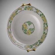 Hutschenreuther Bavaria Floral Motif Handled Plate (Signed/c.1910-1920)