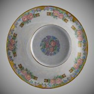 RS Prussia Tillowitz Silesia Floral Motif Tiered Caviar Serving Plate/Dish (Signed/Dated 1926) - Keramic Studio Design