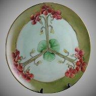 Thomas Bavaria Nasturtium Motif Plate/Charger (Signed/c.1908-1930)