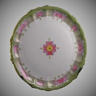 "Rosenthal Bavaria ""Bleeding Heart"" Design Plate (Signed/Dated 1913) - Keramic Studio Design"