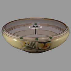 """Hutschenreuther Favorite Bavaria Floral Design Bowl (Signed """"Lou B.""""/c.1910-1930's)"""