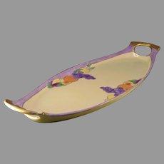 Robert Haviland Limoges Fruit Design Handled Serving Tray (c.1924-1930's)