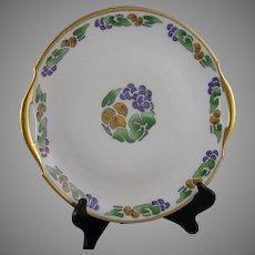 "Bavaria Fruit Design Handled Serving Plate (Signed ""D. Burrowes""/c.1910-1935) - Keramic Studio Design"