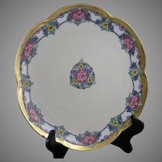 "Hutschenreuther Bavaria Floral Design Plate (Signed ""E.B. Merrill""/c.1920-1930) - Keramic Studio Design"