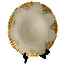 """Tirschenreuth Bavaria Floral Design Plate/Charger (Signed """"Grace Van Arsdale""""/c.1927-1940)"""