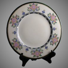 Hutschenreuther Bavaria Enameled Floral Design Plate/Charger (c.1930-1940)