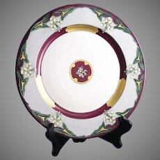 Limoges 'Mark 6' Enameled Floral Design Plate/Charger (c.1920-1930)