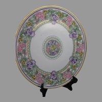 Thomas Bavaria Floral Design Plate/Charger (Signed/c.1909-1930) - Keramic Studio Design