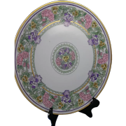 Thomas Bavaria Floral Design Plate/Charger (Signed/c.1909-1930) - Keramic Studio Design