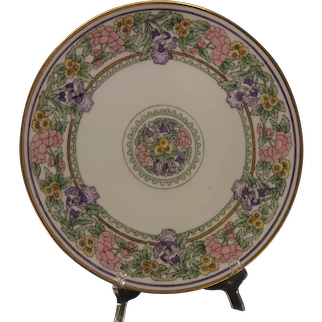 "Thomas Bavaria Floral Design Charger/Plate (Signed ""H.""/c.1909-1930's) - Keramic Studio Design"
