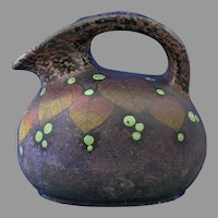 Czechoslovakia Amphora Leaf & Berry Design Pitcher (c.1918-1936)