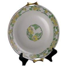"Hutschenreuther Bavaria Roses Design Handled Plate (Signed ""J. Ellsworth""/c.1915-1930) - Keramic Studio Design"