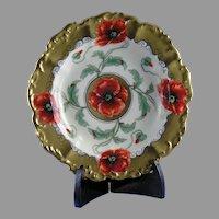"Pickard Studios Poppy Design Dish/Bowl (Signed ""Loh""/c.1905-1910)"