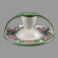 Bavaria Rose Design Candlestick/Candle Holder (c.1909-1930) - Keramic Studio Design