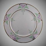 Lenox Belleek Enameled Floral Motif Plate (Signed/Dated 1917) - Keramic Studio Design