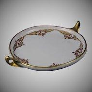 "Rosenthal Donatello Bavaria ""Sagittaria Design"" Handled Serving Plate/Dish (Signed/Dated 1907) - Keramic Studio Design"