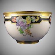 Lenox Belleek (American) Enameled Floral Motif Centerpiece Bowl (c. 1906-1924)
