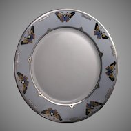 Hutschenreuther Selb Bavaria Butterfly Motif Plate/Charger (Signed/c.1920-1940) - Keramic Studio Design