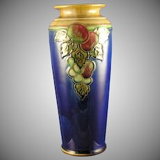 Royal Doulton Arts & Crafts Fruit Motif Vase (Signed by Maud Bowden/c.1923-1927)
