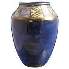 """Royal Doulton Arts & Crafts Leaf Motif Vase (Signed by """"Joan Honey""""/c.1923-1927)"""