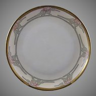 Hutschenreuther Selb Bavaria Floral Motif Plate (Signed/Dated 1913)