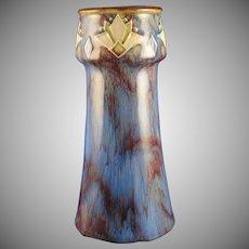 Royal Doulton Arts & Crafts Chevron Design Vase (Signed by Lily Partington/c.1923-1927)