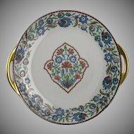 Haviland Limoges Iznik/Islamic/Turkish Floral Motif Handled Plate (c.1946-1962)