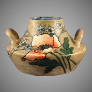 Stellmacher Amphora Austria Arts & Crafts Poppy Motif Handled Vase (c.1905-1910)