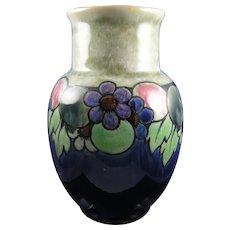 "Royal Doulton Arts & Crafts Fruit Motif Vase (Signed ""Maud Bowden""/c.1923-1927)"