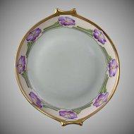 Hutschenreuther Selb Bavaria Floral Motif Handled Plate (Signed/c.1910-1930) - Keramic Studio Design