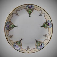 Hutschenreuther Selb Bavaria Floral Motif Plate (Signed/Dated 1914)