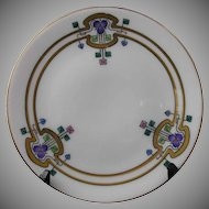 "Thomas Bavaria Iris Motif Plate (Signed ""Brinsmaid's Studio""/c.1908-1930)"