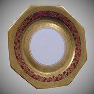 Julius Brauer Studio Czechoslovakian Red & Gold Plate (c.1910-1916)