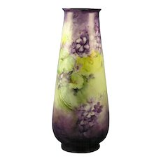 Rosenthal Bavaria Violet Motif Vase (c.1901-1930)