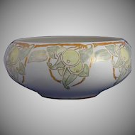 "Willets Belleek (American) Lustre Citrus Motif Centerpiece Bowl (Signed ""R.K.""/c.1912-1920) - Keramic Studio Design"
