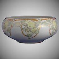 Willets Belleek Lustre Citrus Motif Centerpiece Bowl (Signed/c.1912-1920) - Keramic Studio Design