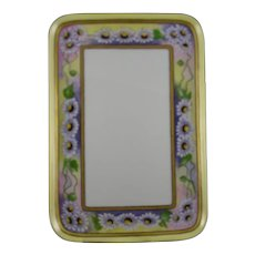 """Hutschenreuther Uno Favorite Bavaria Purple Aster Motif Tray (Signed """"H.H.D.""""/Dated 1916)"""