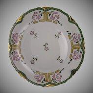 Heinrich & Co. (H&Co.) Selb Bavaria Rose Motif Plate (Signed/c.1900-1920)