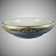 Rosenthal Bavaria Butterfly Motif Bowl (Signed/Dated 1916) - Keramic Studio Design