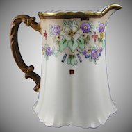 Haviland Limoges Floral Motif Pitcher (Signed/c.1894-1931)