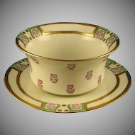 PH Leonard Art Deco Ramekin/Dish & Plate Set (c.1890-1908)