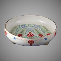 Pfeiffer & Lowenstein (P&L) Austria Floral Design Footed Bowl (c.1917-1930) - Keramic Studio Design