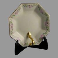 """Limoges 'Mark 6' Floral Design Lemon Server/Tray (Signed """"E.F.W.""""/c.1910-1930)"""